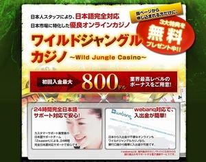 日本に特化したカジノだから安心して出来る『ワイルドジャングルカジノ』