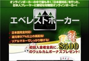 世界で大人気のオンラインポーカー!それはエベレストポーカー!!!